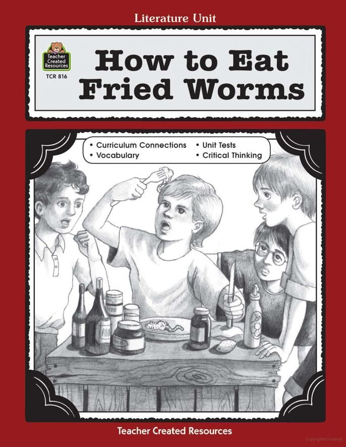 A guide for using how to eat fried worms in the classroom thomas a guide for using how to eat fried worms in the classroom thomas rockwell ccuart Images