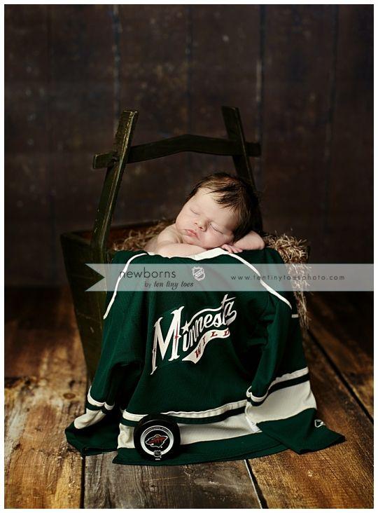 MN Wild Hockey Jersey    Minneapolis Newborn Baby Photographer ... 3c0febadd