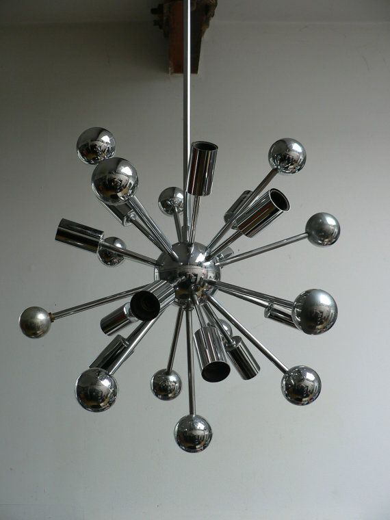 Pin by benjamin stoner on interiors pinterest mid century modern dutch mid century chrome sputnik lamp vintage 1960s atomic ceiling light fixture designer paul de haan mozeypictures Gallery