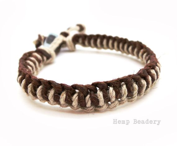 Thick Hemp Bracelet Mens Washer By Hempbeadery 8 95