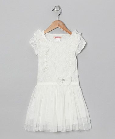 Take a look at this White Lace Ruffle Dress - Toddler & Girls by Paulinie on #zulily today!