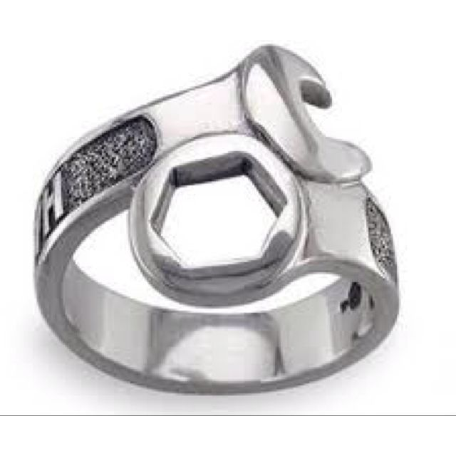 Wrench ring jewelry Pinterest Ring and Tired