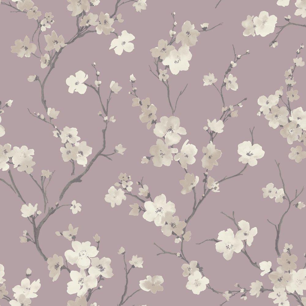 Blossom By Sophie Conran Wisteria Wallpaper Direct Vintage Flowers Wallpaper Glitter Wallpaper Vintage Bird Wallpaper