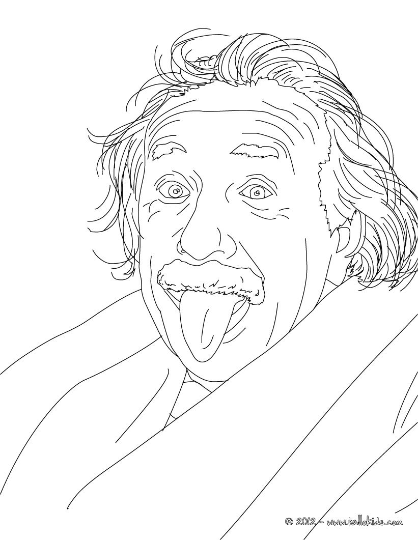 famous scientist coloring pages - photo#39
