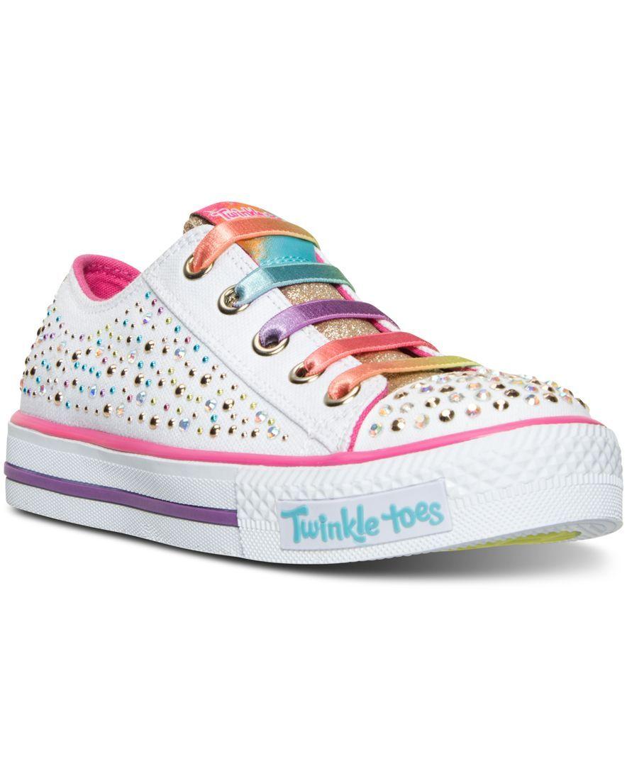 Skechers Girls' Glitter Light Ombre Twinkle ToesShuffles Little FlKJTc1