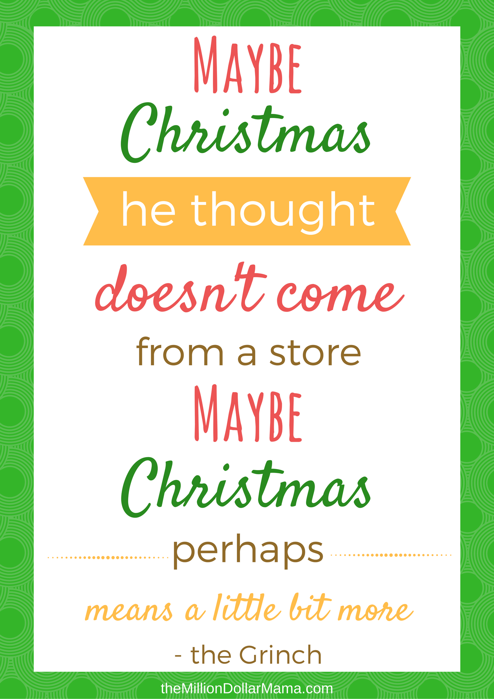 How The Grinch Stole Christmas Free Printables