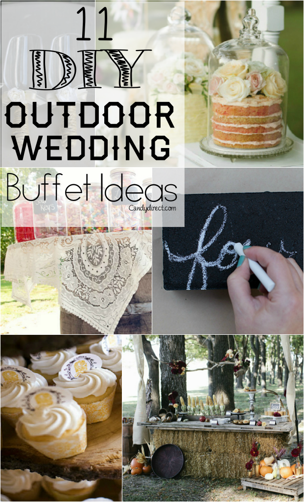 11 Diy Candy Buffet Ideas For Rustic Outdoor Weddings