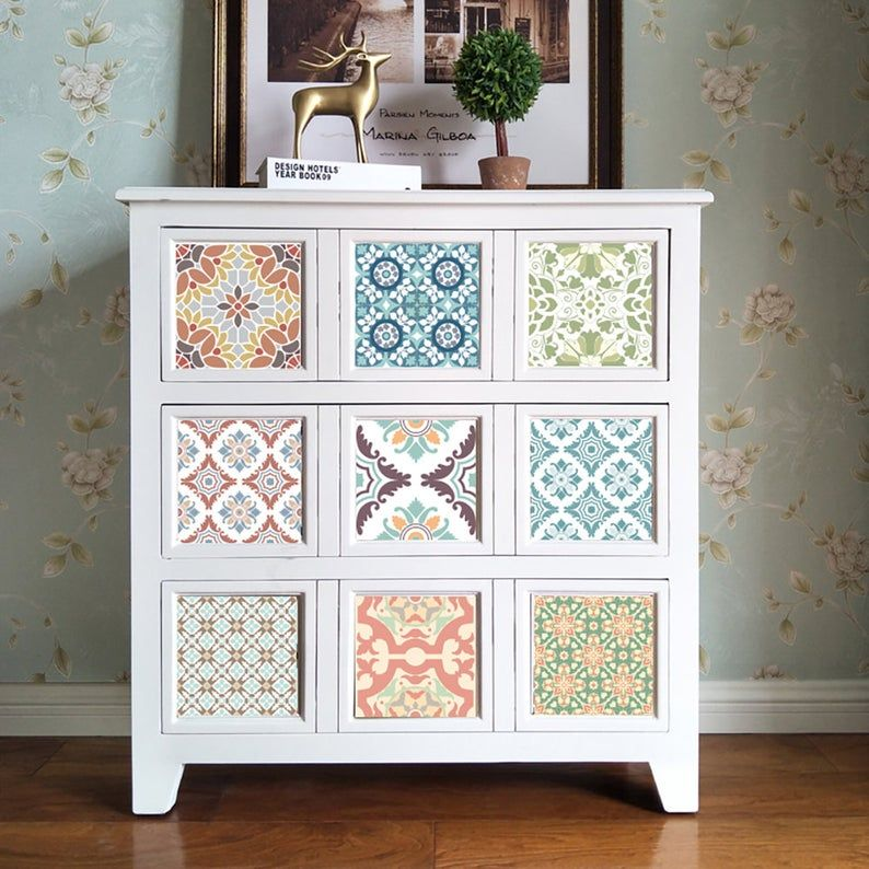 Funlife Mediterranean Backsplash Tile Stickers Peel And Stick Tile Decals Kitchen Makeover Waterproof In 2021 Wallpaper Furniture Home Decor Furniture Moroccan Furniture