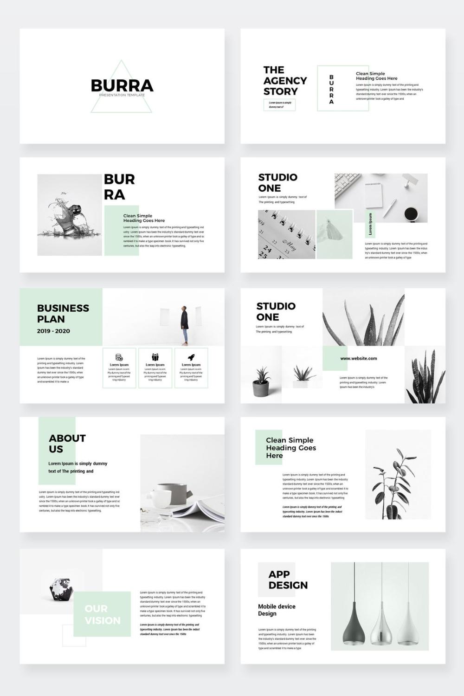 Burra - Clean Simple Google Slides Presentation Template