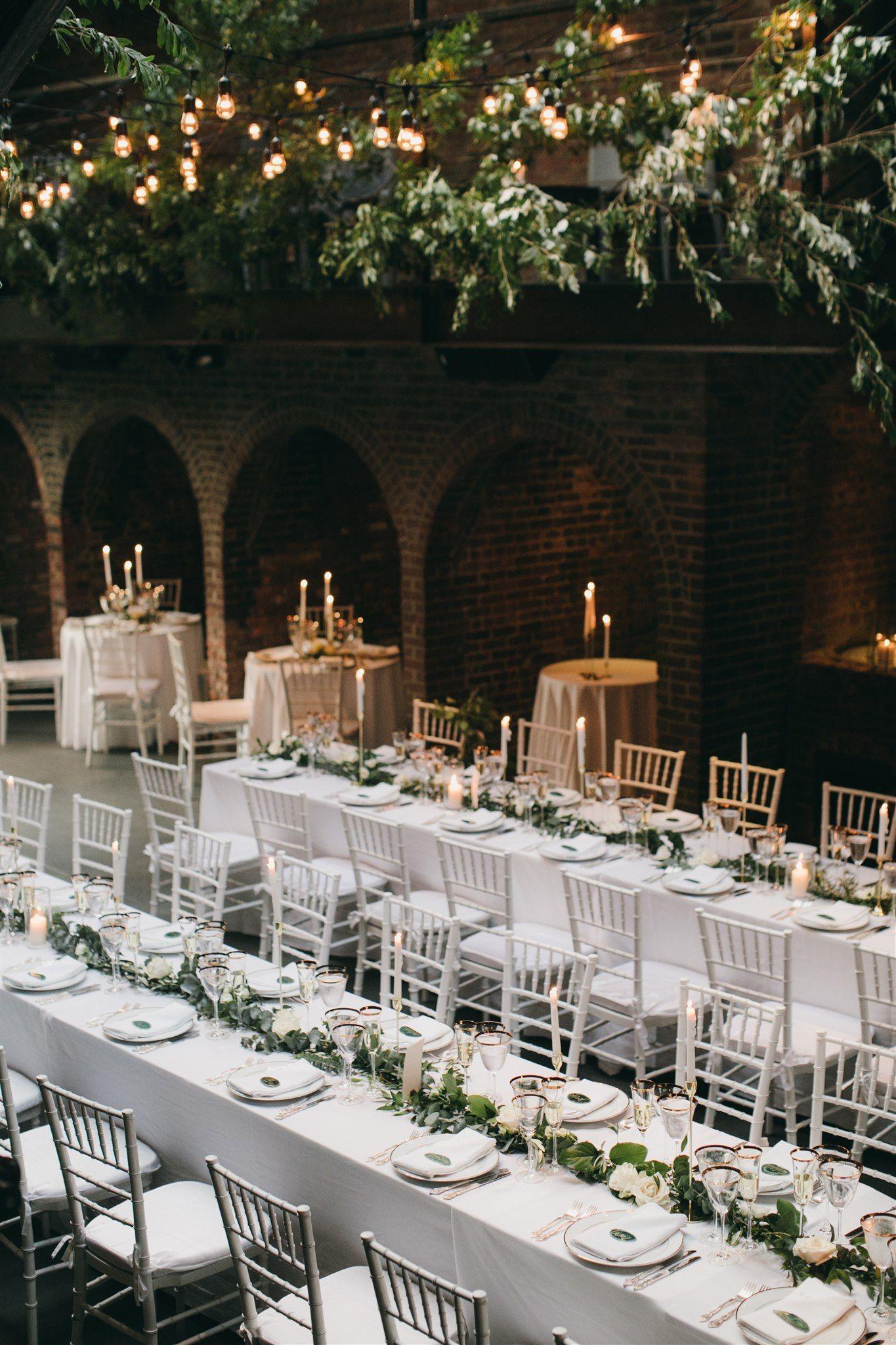 Green and white wedding ceremony white wedding