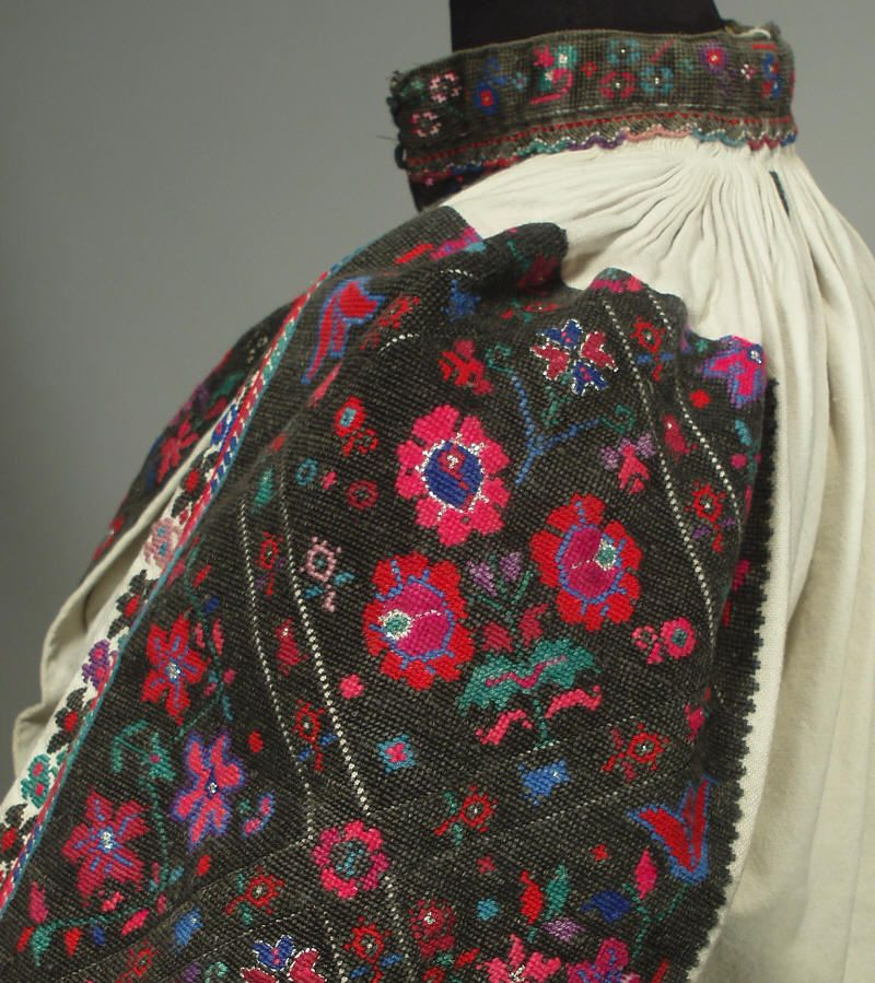 Antique Romanian Folk Costume Ethnic Peasant Dress Embroidered Blouse Skirt RARE   eBay