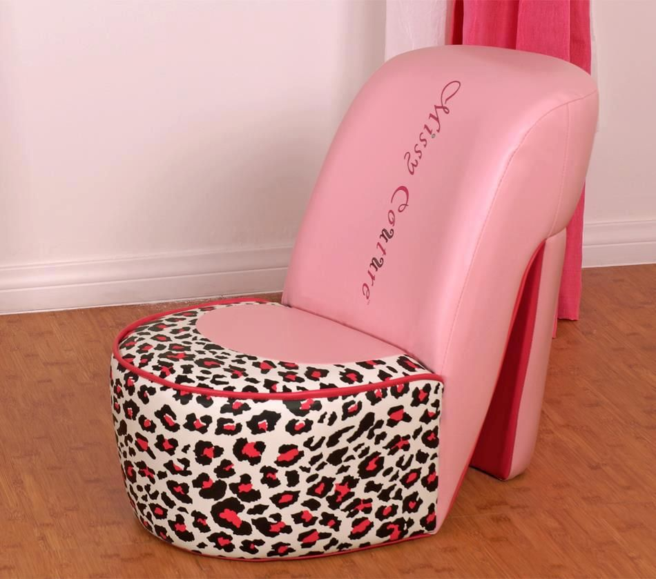 Featuring A Leopard Print And Pink Faux Leather, This Chair Is Every Little  Girlu0027s ...