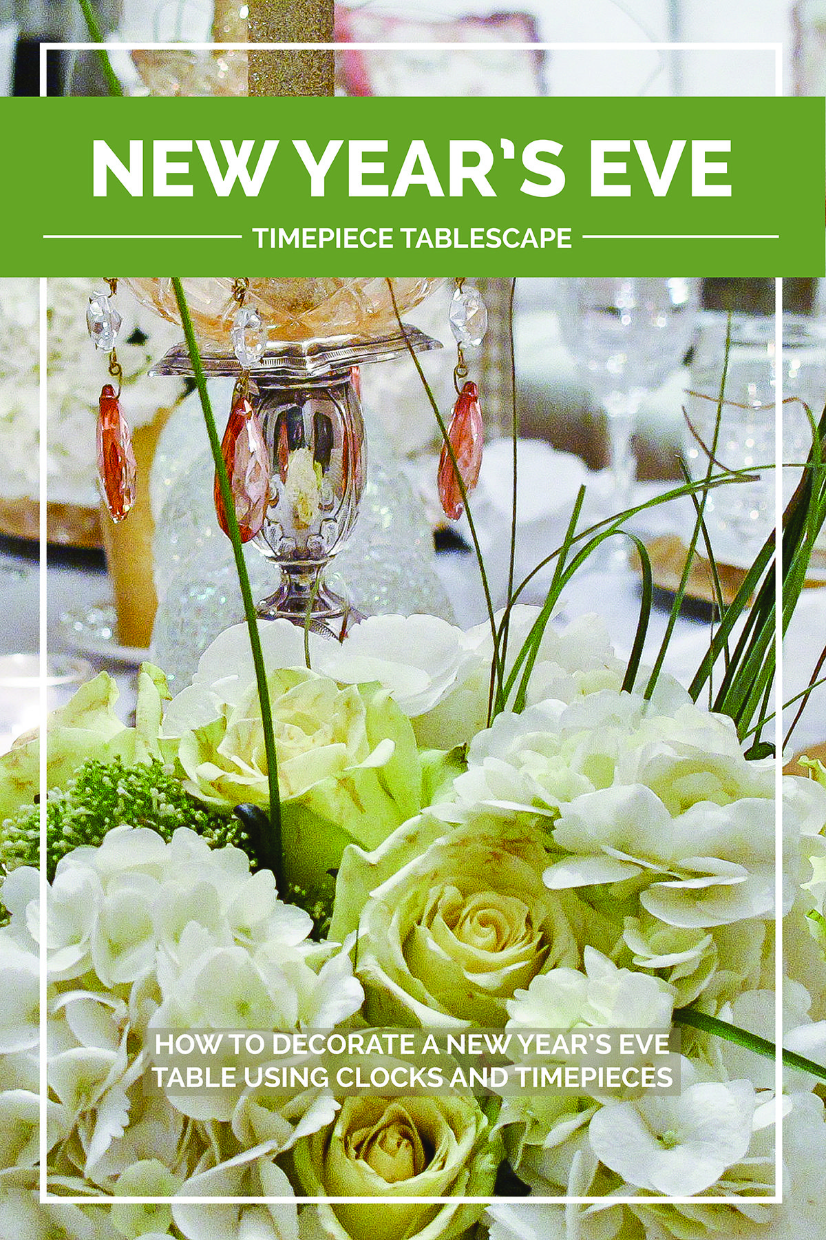 new years eve tablescape decorating the table with timepiece imagery to ring in the new year designthusiasm