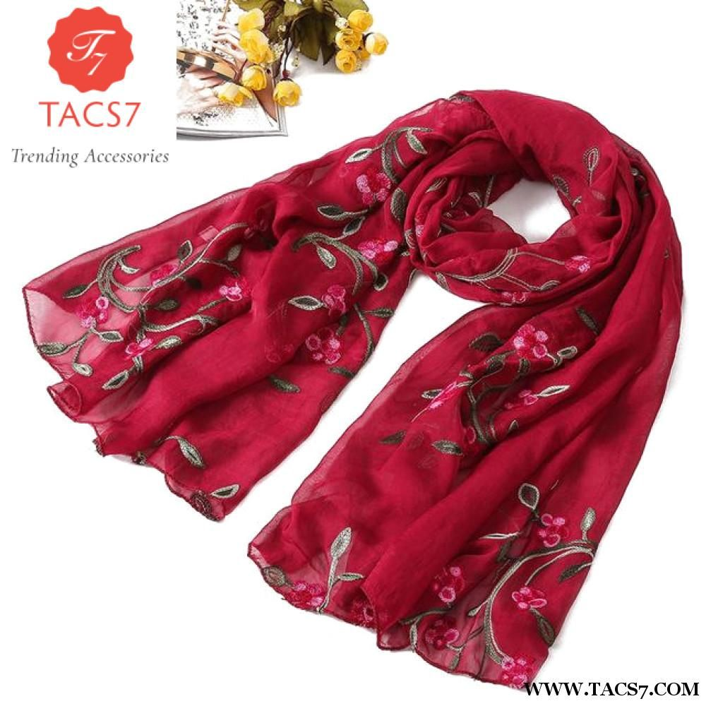 ad3ebad7a hot 2018 new brand women scarf spring summer silk scarves shawls and wraps  lady pashmina beach stoles hijab foulard