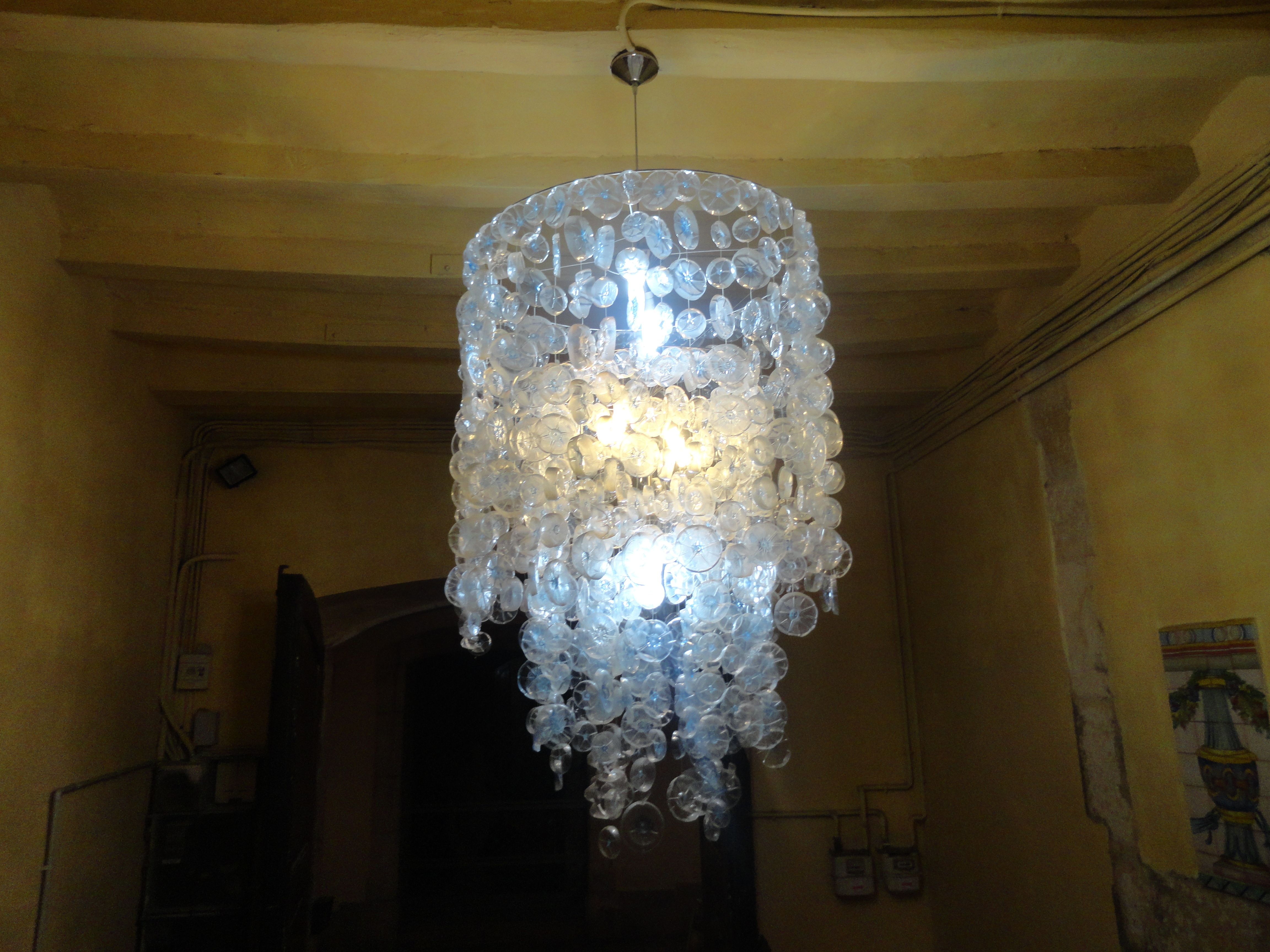 Recycled Plastic Bottle Lamp Lamp Shade Made Out Of Recycled Plastic Bottles In Tarragona