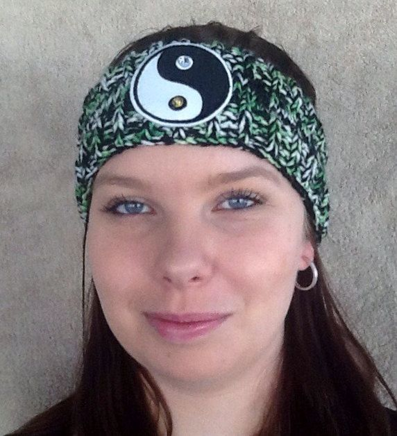 Hand knitted Ladies Beanie Band/Headband/Ear warmer/Goth/Biker by HandmadebyAuntyTart on Etsy
