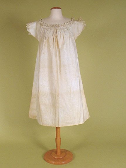 1860-1880 ___ Chemise ___ Cotton ___ from The Tasha Tudor Collection at 2012 Whitaker Auction