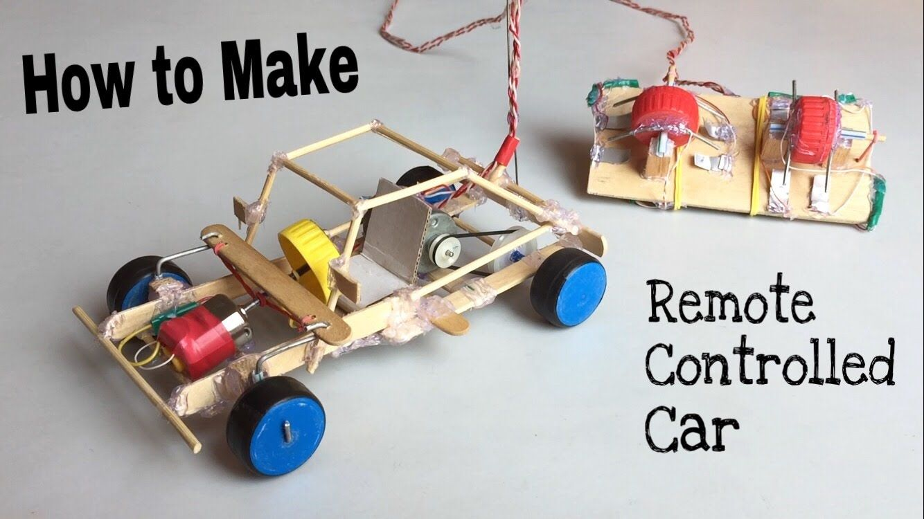 How To Make A Car With Remote Controlled Out Of Popsicle