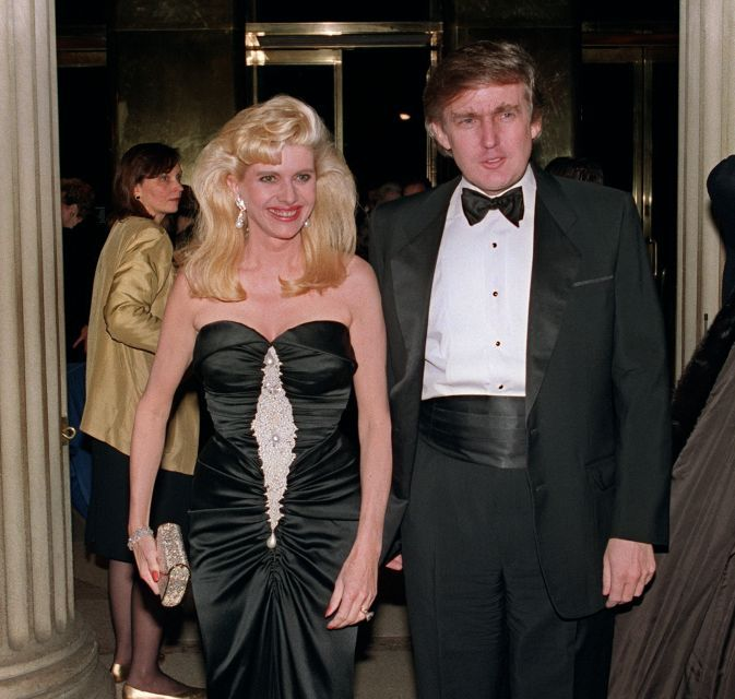 Donald Trump and his wife Ivana arrive at