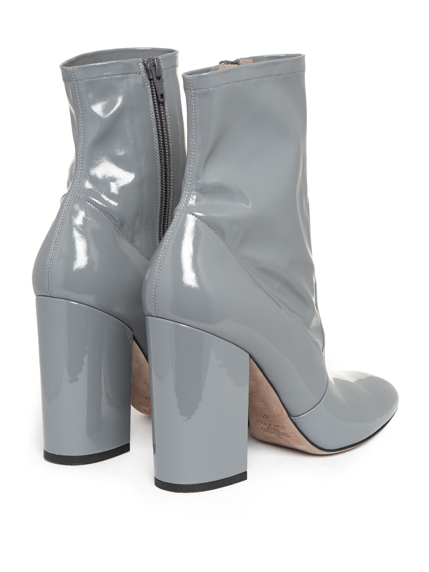 6920c991167 grey valentino patent boots | details | Boots, Shoes, Leather ankle ...