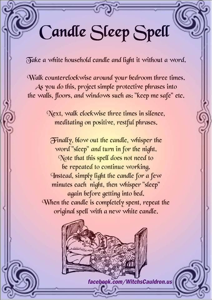Sleep Spell I M Not Wiccan This Appears To Me As A