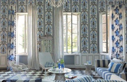 Beautiful pattern Interior Design for Living room .