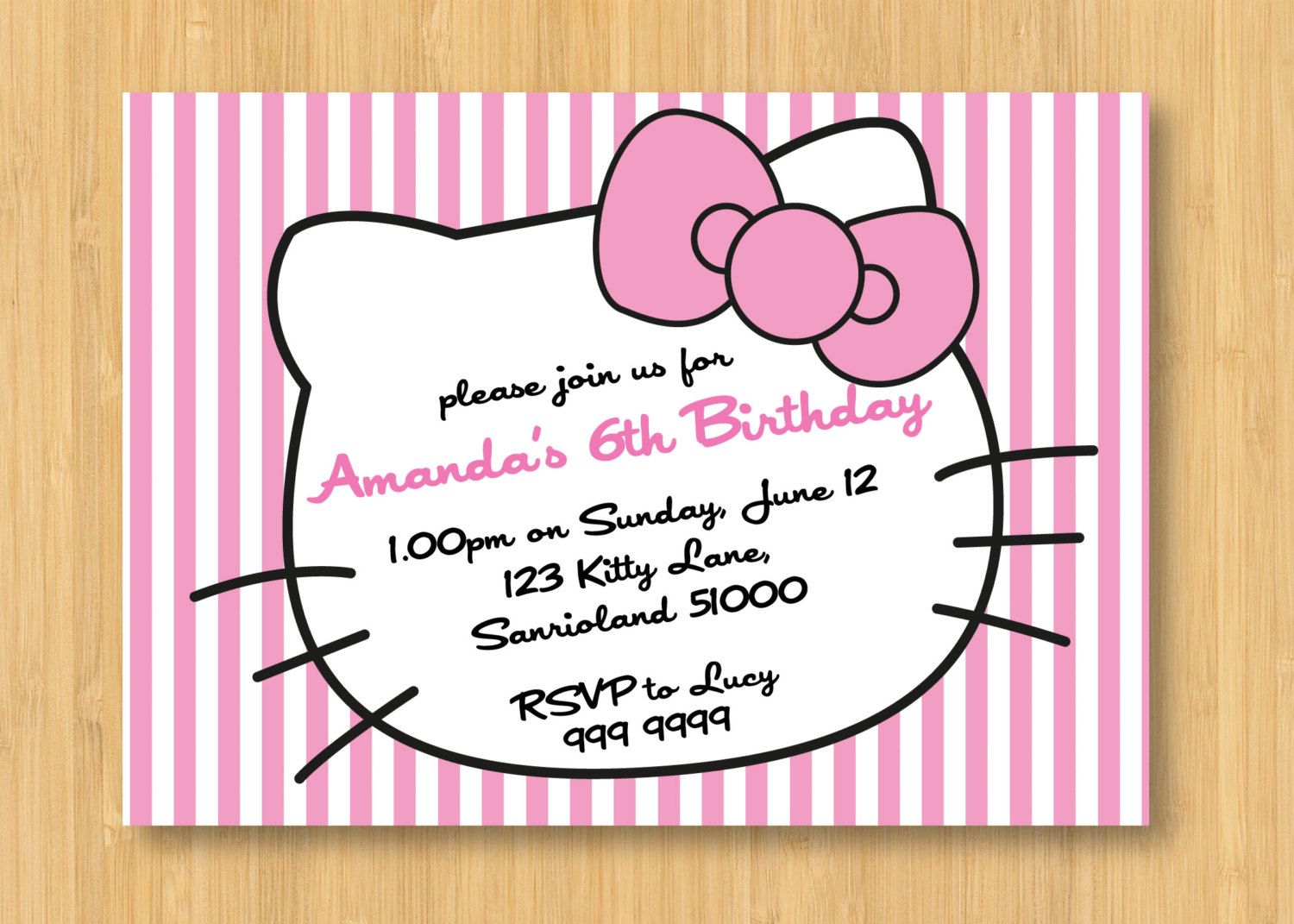best images about invitations hello kitty 17 best images about invitations hello kitty parties baptisms and return address