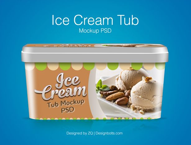 80 Free High Quality Packaging Mockup Psd Files For Presentation Ice Cream Tubs Packaging Template Design Ice Cream Packaging
