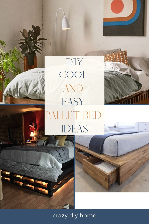 Easy Pallet Bed Ideas in 2020 | Pallet designs, Pallet ...