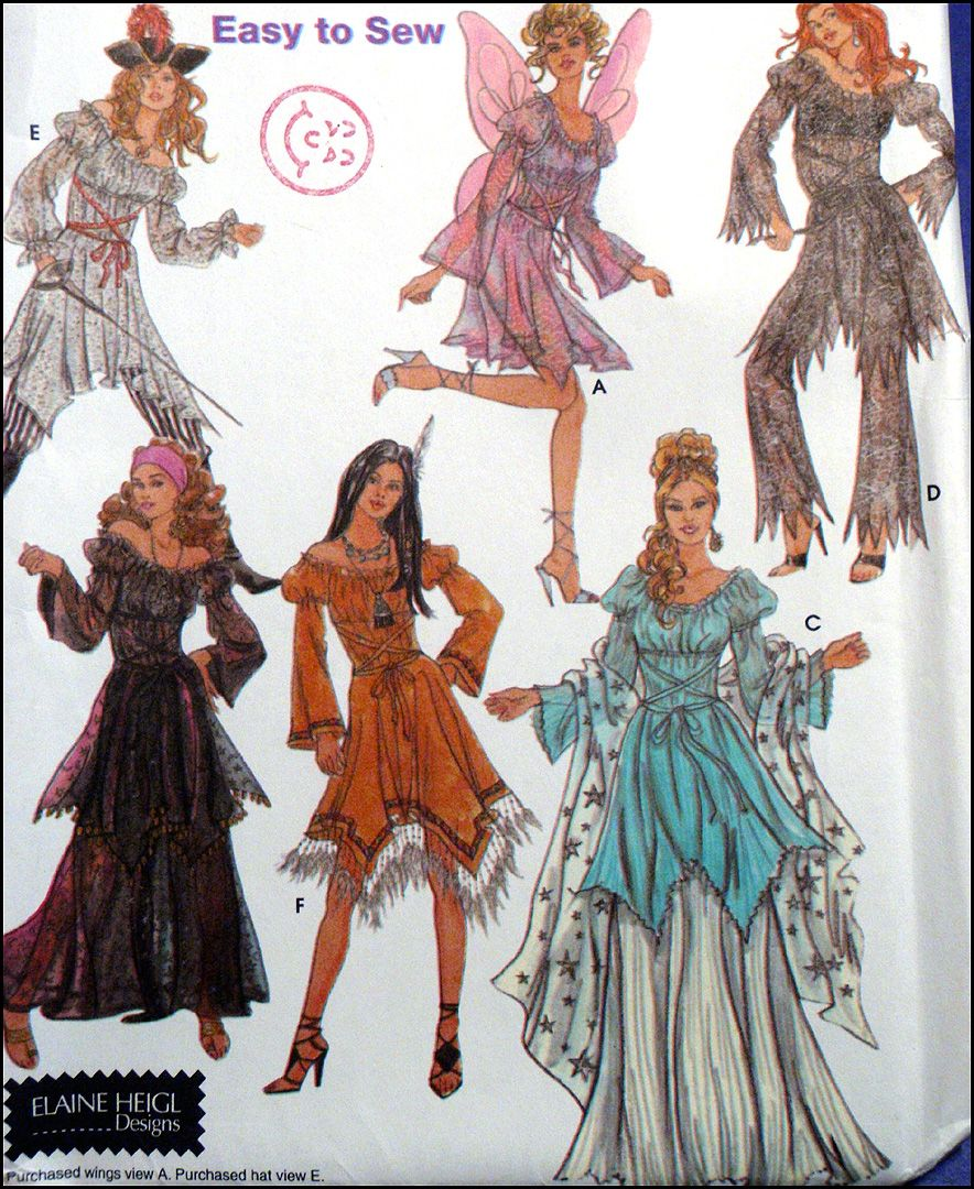 Misses SZ 6-12 Uncut HALLOWEEN COSTUMES PATTERN ~ SEXY PIRATE ...
