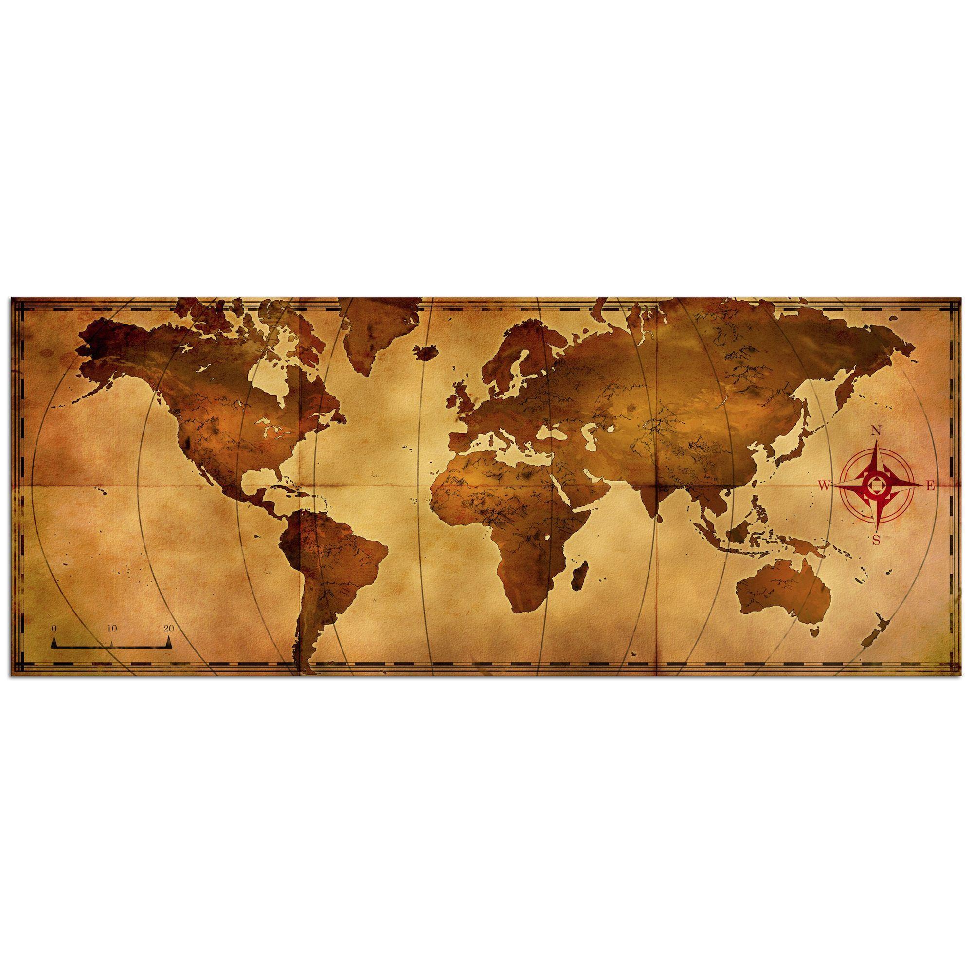 Alan rodriguez uold world mapu large rustic world map metal wall art