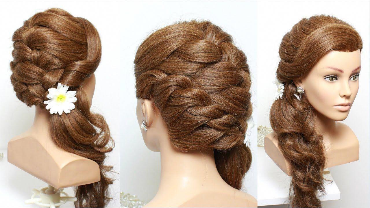 Hairstyles For Long Hair Videos Youtube Diy Romantic Bridal Hairstyle For Long Hair Tutorial With Curls Long Hair Styles Long Hair Video Long Hair Tutorial