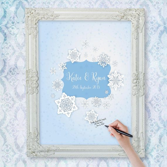 Awesome Etsy listing for a winter wedding guest book poster at ...
