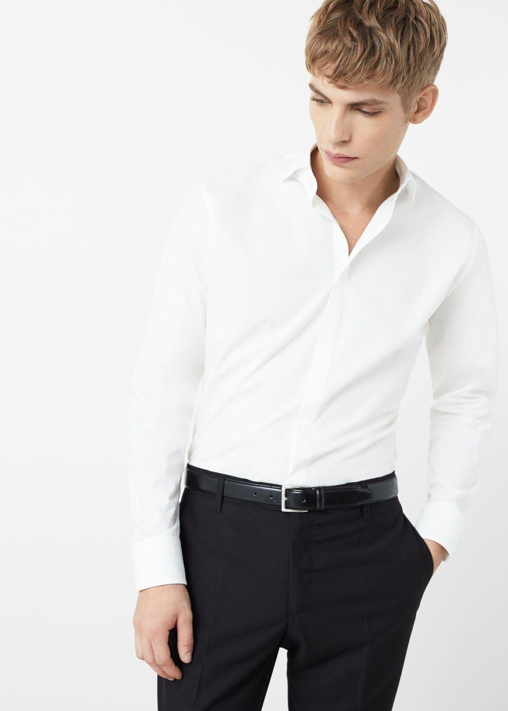 Приталенная хлопковая рубашка tailored Женская wedding suits