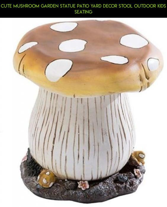 Cute Mushroom Garden Statue Patio Yard Decor Stool Outdoor Kids