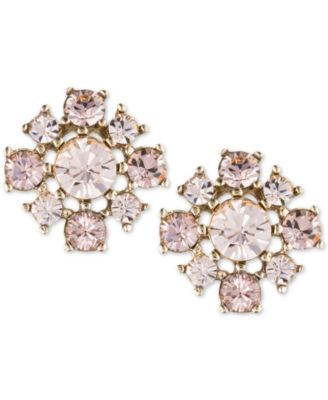 733443932 Givenchy Gold-Tone Rose Crystal Cluster Stud Earrings | Bridal Party ...