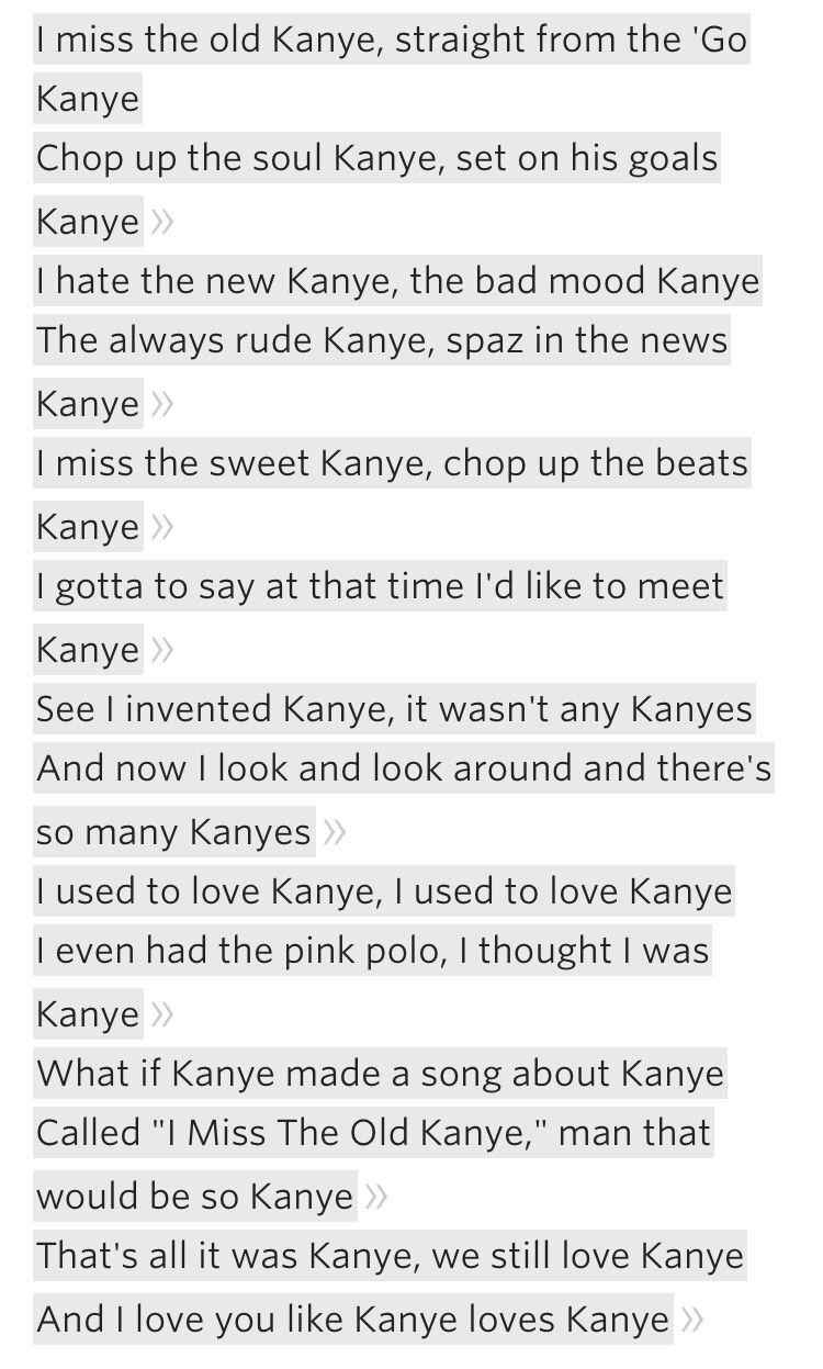 I Love Kanye Lyrics Kanye West The Life Of Pablo Kanye West Quotes Funny Kanye West Quotes Best Kanye Lyrics