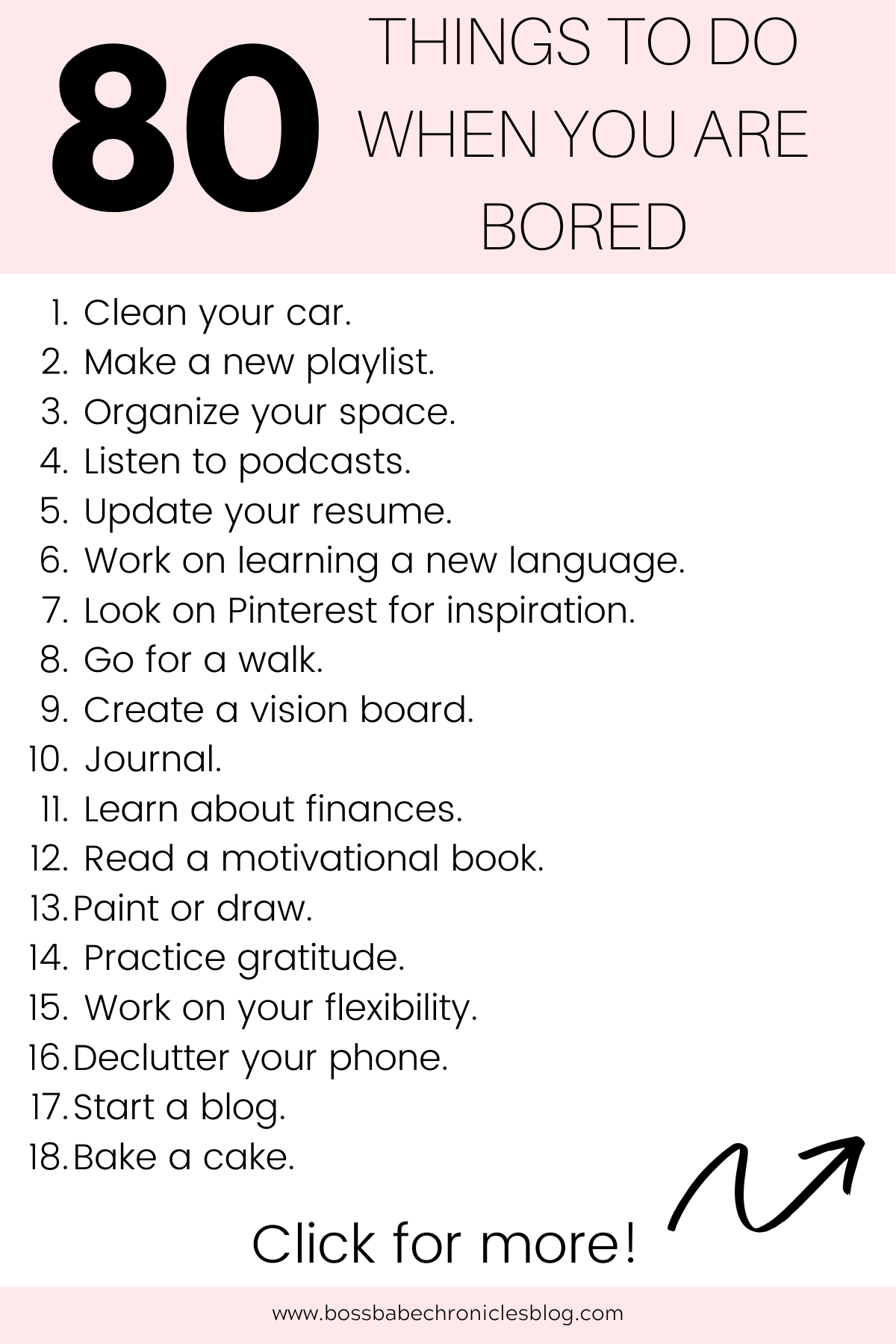 80 Productive Things To Do When Bored Productive Things To Do Self Improvement Tips Enjoy Quotes