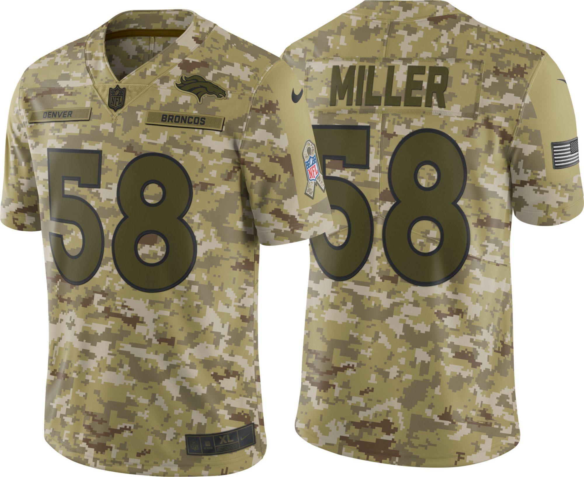 Nike Men's Salute to Service Denver Broncos Von Miller #58 Limited Jersey