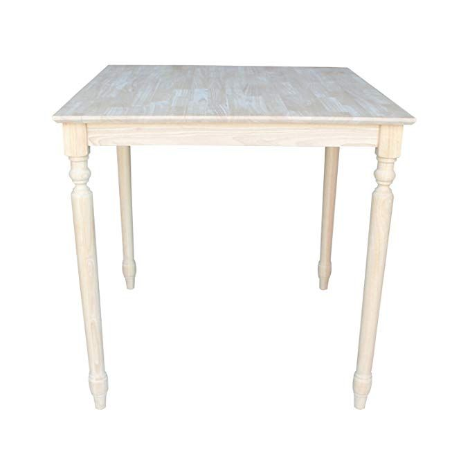 International Concepts Solid Wood Rectangular Table 36\