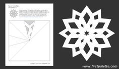 Printable Paper Snowflake Templates With Directions Christmas