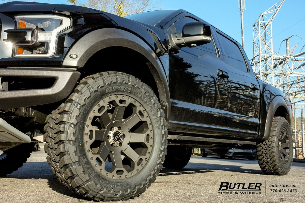 Ford Raptor with 22in Black Rhino Warlord Wheels   For My Hubby ...