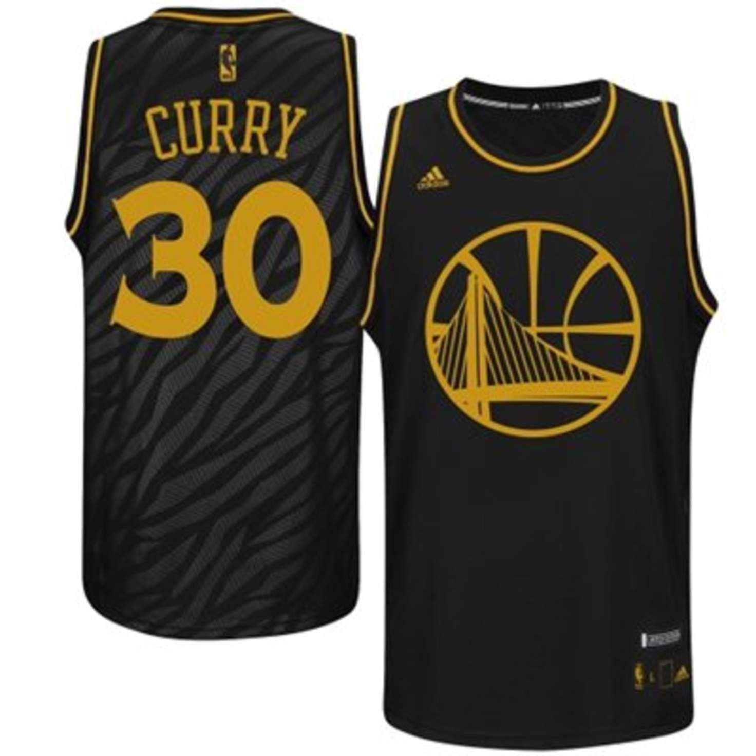 new concept aac30 d3fbb Mens Golden State Warriors Stephen Curry adidas Black ...