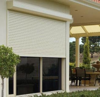 Roller Shutters Protection And Security With Style Mandurah Shutters Exterior Residential Doors Security Shutters