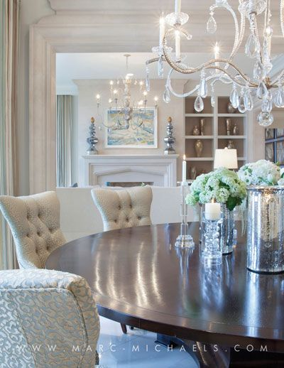 Luxury Manalapan Interior Design Firm Marc Michaels Round Dining Room Table Dining Room Inspiration Round Dining Room