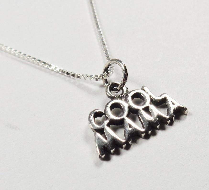 STERLING SILVER COOL MAMA MOTHERS DAY LOVE GIFT PENDANT NECKLACE #Unbranded #Pendant