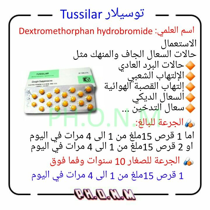 1 Generic Name Dextromethorphan Hydrobromide 2 Brand Name Tussilar دكتور طب اطباء طبيب صيدلاني Pharmacy Medicine Medicine Health