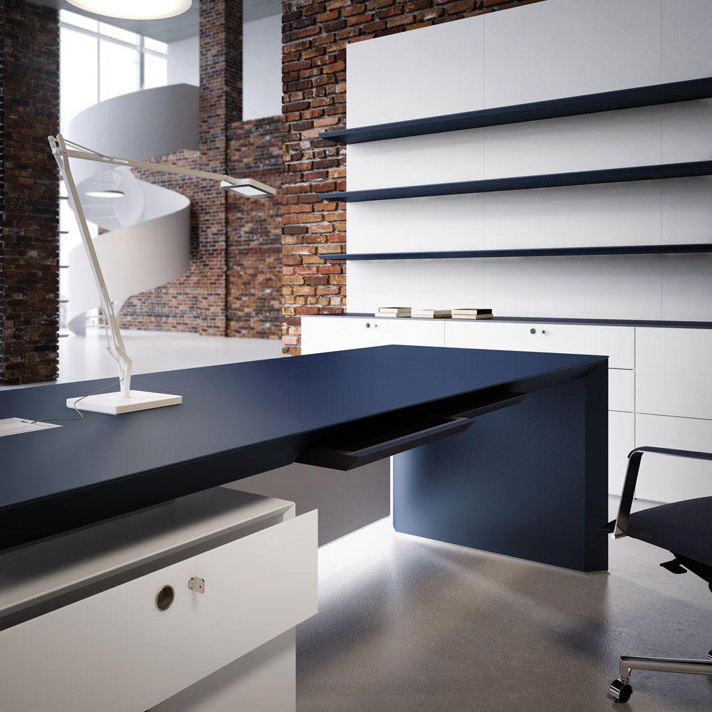 Office desks: Desk Multipli CEO by Fantoni | Office | Pinterest ...