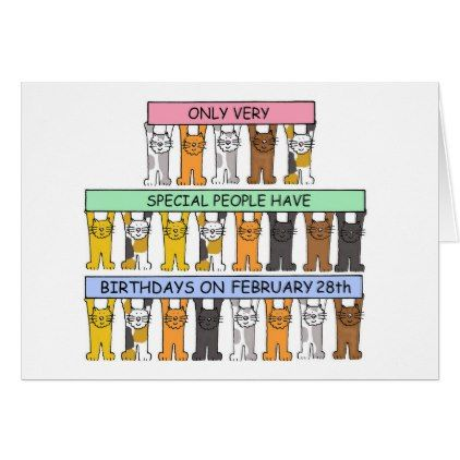 February 28th birthday fun cats card cat cards and birthday fun bookmarktalkfo Gallery