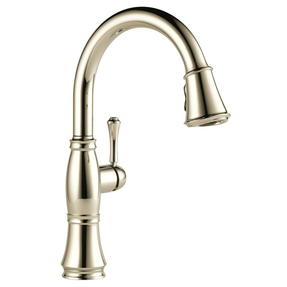 Delta Cassidy Single-Handle Pull-Down Sprayer Kitchen Faucet in ...
